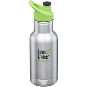 Klean Kanteen Borraccia 355ml sottovuoto con tappo sport 3.0, brushed stainless